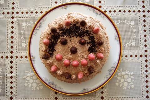 にっこりケーキ