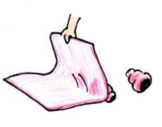 毛布で隠す!
