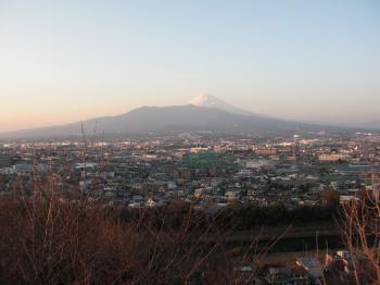 本城山から富士山を