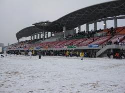 雪の競技場