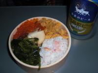 ミニ海鮮丼と銀河ビール