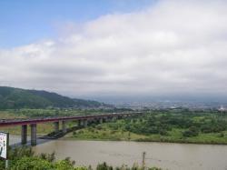 富士川SAから富士山方向 今日は見えません
