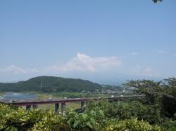 いつもの富士川SAから富士山方向