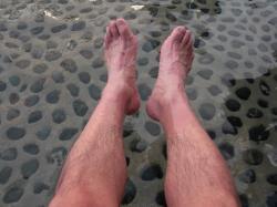 足湯で回復
