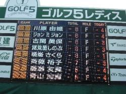 ゴルフ5レディス2009予選2日目スコア
