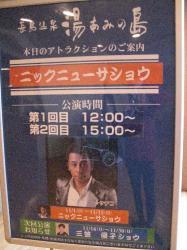 長島温泉のショー