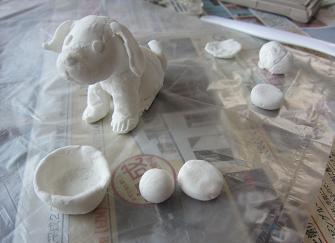 Biscuit紙粘土人形
