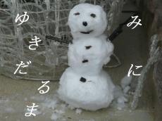 雪だるまみに