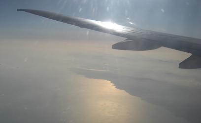中国・山東半島上空1128
