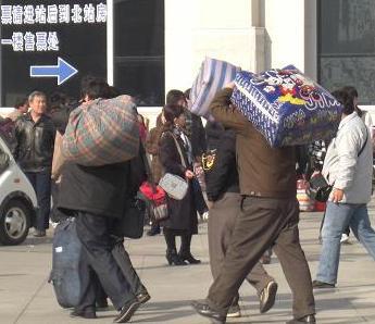 中国・天津駅前2008年11月30日