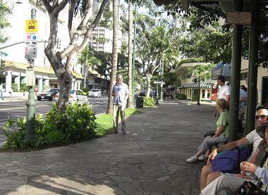 ザ・バスの停留所
