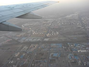 北京・天津間の上空