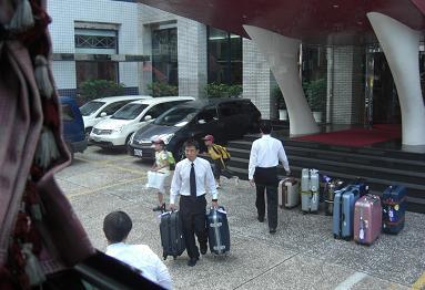 台南のホテル出発