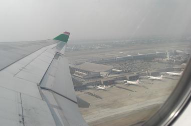 台北桃園国際空港離陸