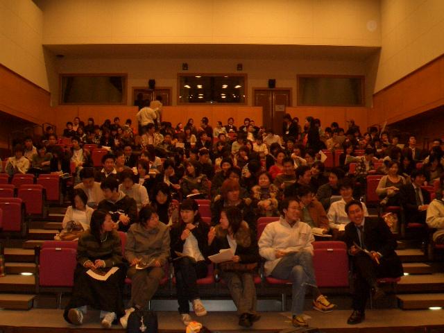 上映後の客席