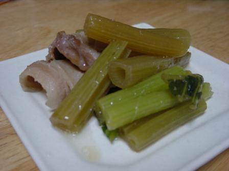 ふきと豚バラの煮物