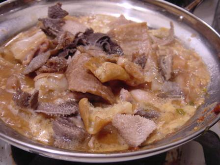 モツ鍋味噌仕立て