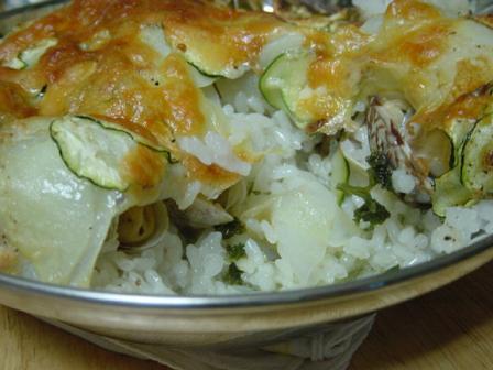 アサリと米のオーブン焼き