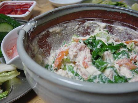 ニガ菜の白和え
