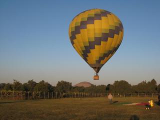 気球が膨らんでます