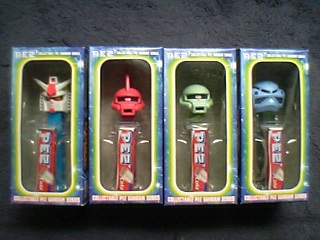 COLLECTABLE PEZ GUNDAM SERIES