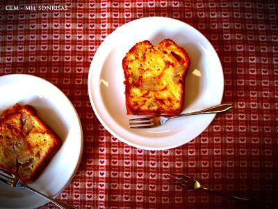 バナナとキャラメルのチーズパウンドケーキ♪