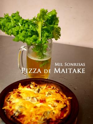pizza de maitake