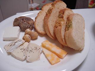 ガーリックパンとチーズ