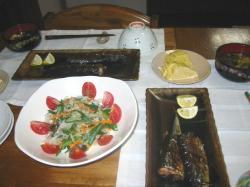 秋刀魚と茹で野菜のポン酢和え