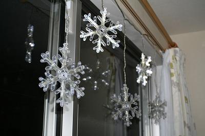 雪の結晶。
