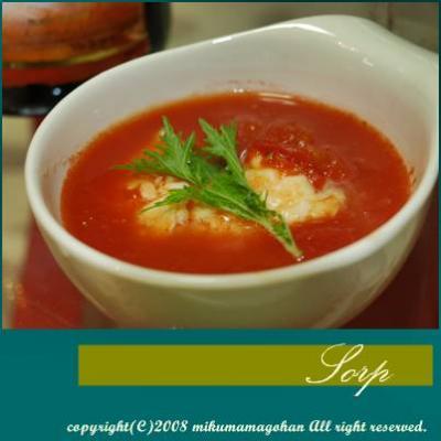 モッツァレラチーズのスープ