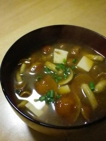 なめこと豆腐4