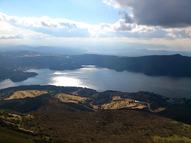 駒ケ岳より望む芦ノ湖