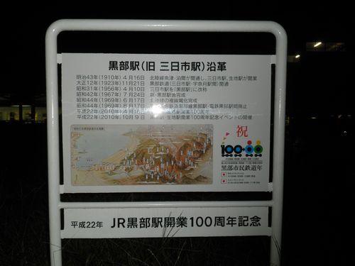 黒部駅前・復刻駅名標2