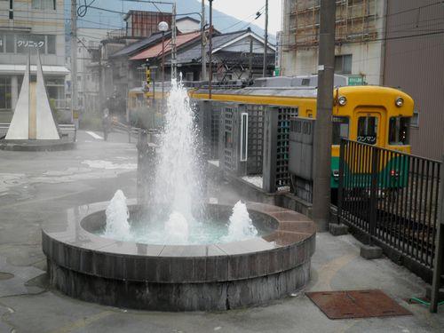 宇奈月温泉・温泉噴水