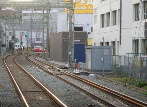 京急六浦駅・狭軌専用分岐器3