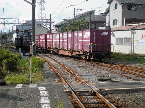 貨車の入換作業(岳南鉄道・岳南原田駅)