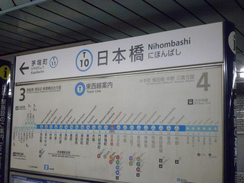 東京メトロ日本橋駅・駅名標