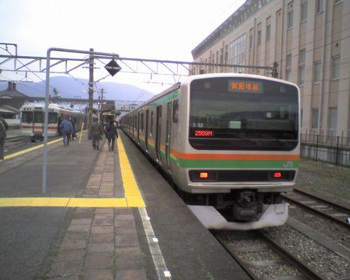 御殿場線のE231系(2010年4月4日・山北駅)