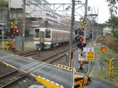 東海道本線「旧東海道踏切」(函南~三島間)