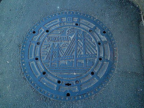横浜市・マンホールの蓋