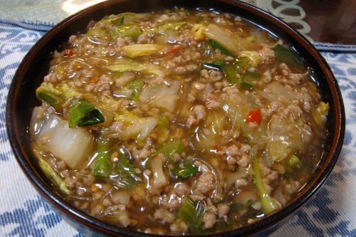 090124-012麻婆白菜皿に盛ったところ(縮小)