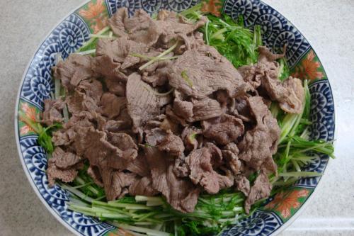 090315-010牛肉とみず菜の温しゃぶ風おろしポン酢(縮小)