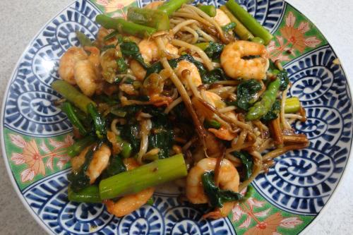 090331-030海老と野菜のオイスターソース炒め(縮小)