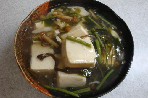 090418-020豆腐の山菜めかぶあんかけ(縮小)