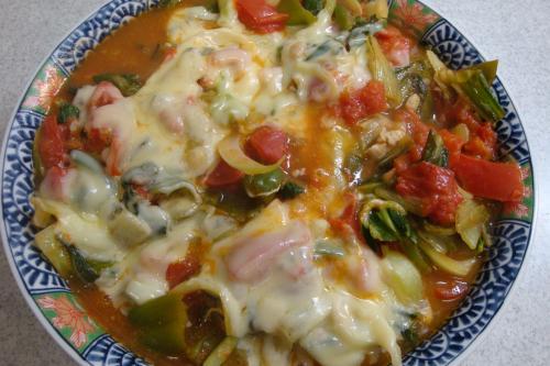 090628-021野菜とトマトのチーズ焼き完成(縮小)