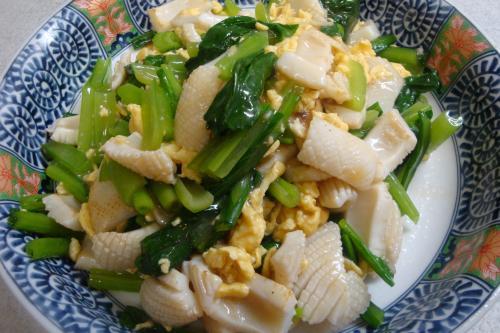 090926-010いかと玉子と小松菜の炒め(縮小)