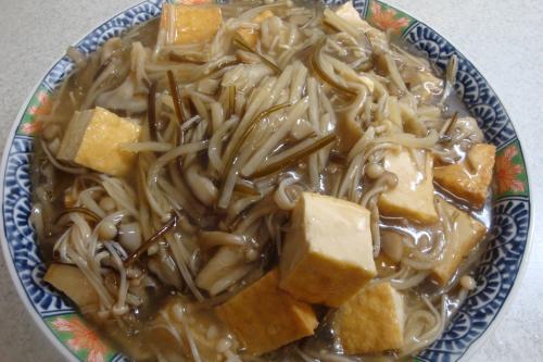 091103-020きのこと竹の子と厚揚げの旨煮(縮小)
