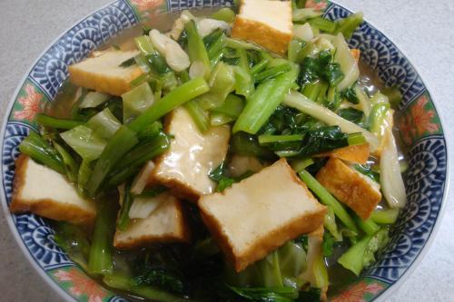 091129-020小松菜とキャベツと厚揚げの炒め煮(縮小)