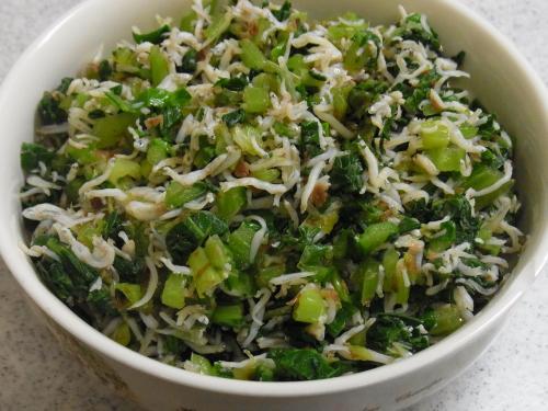 111218-040小松菜のしらすおかか和え(S)